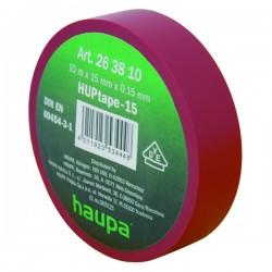 Изолента ПВХ, цвет красный, шир. 19 мм, длина 20 м, d 74 мм | 263852 | Haupa