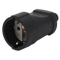 Rx4-B ЭРА Розетка кабельная с/з прямая ПВХ 16A черная (20/8) | Б0039685 | ЭРА