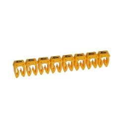 Маркер CAB 3 - для кабеля 1,5-2,5 мм? - цифра 4 - желтый | 038224 | Legrand