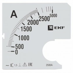 Шкала сменная для A961 2500/5А-1,5 EKF PROxima | s-a961-2500 | EKF