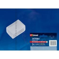 UCW-K14 CLEAR 005 POLYBAG заглушка для LED ленты 5050, 14-16 мм, прозрачный, 5 шт в упак | 10836 | Uniel