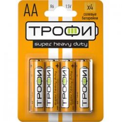 Батарейка солевая (ЭП) R6-4BL (40/720/25920) (AA) | C0033716 | ТРОФИ