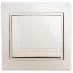 1-101-02 Intro Выключатель, 10А-250В, IP20, СУ, Plano, сл.кость | Б0027596 | Intro