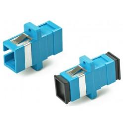 Адаптер проходной оптический FA-P11Z-SC/SC-N/BK-BL SC-SC, SM, simplex, корпус пластиковый, синий, черные колпачки | 243946 | Hyperline