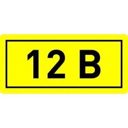 "Наклейка ""12В"" (10х15мм 1шт) PROxima | an-2-01 | EKF"