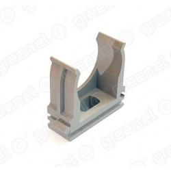 Держатель с защелкой для жестких и гофрированных труб D20мм (200/4000шт) полиэтиленовый пакет | GE-PR50141 | GREENEL