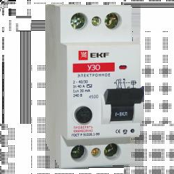 Устройство защитного отключения УЗО 2P 63А/30мА (электронное) EKF | elcb-2-63-30e | EKF