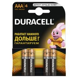 Элемент питания Duracell LR03-4BL BASIC | Б0026813 | Duracell