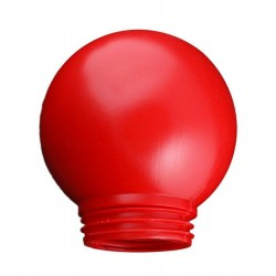 Рассеиватель Шар 150 пластик красный | 1005550358 | Элетех