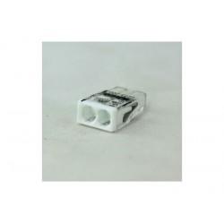Клемма 2-проводная 0.5-2.5мм2 одножильный белый (уп/100шт) | 2273-202 | WAGO