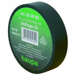 Изолента ПВХ, цвет чёрный, шир. 15мм, длина 20 м, d 74 мм | 263822 | Haupa
