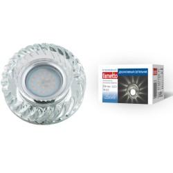 DLS-L123 GU5.3 GLASSY/CLEAR Светильник декор.встр Luciole, GU5.3 доп.LED подсвет. 3Вт стекл/стекл. зерк./прозр | UL-00000372 | Fametto