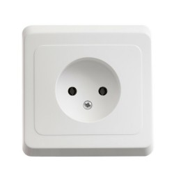 ЭТЮД С/У Белый Розетка 1-ая б/з | PC16-001B | Schneider Electric