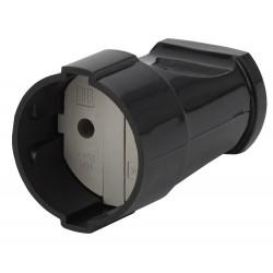 Rx1-B ЭРА Розетка кабельная б/з прямая 10A черная (24/384/4608) | Б0039681 | ЭРА