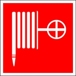 "Пиктограмма (Пластина) BL-2915B.F02: ""Пожарный кран"" | a18595 | Белый свет"