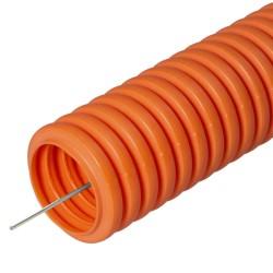 Труба гофрированная ПНД не распространяющая горение оранжевая с/з д16 (100м/5500м уп/пал) | PR02.0040 | Строитель