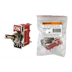 Выключатель-тумблер 1021 (ТВ1-2) вкл.- откл. 1 группа контактов | SQ0703-0026 | TDM