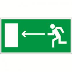 Пиктограмма (Пластина) Напр. к эвакуационному выходу налево BL-2010B.E04 для BRIZ, VOLNA, YANTA | a15028 | Белый свет