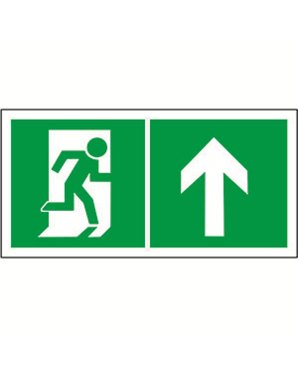 """Знак безопасности BL-3015.E38""""Напр. к эвакуационному выходу прямо""""   a18190   Белый свет"""