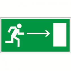 Пиктограмма (Наклейка) Направление к выходу направо 150х100 для JUNIOR | NPU-1510.E03 | Белый свет
