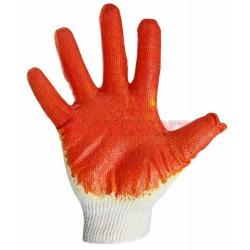 Перчатки х/б с одинарным латексным покрытием, 5 нитей, 36 г, 10 класс вязки, красного цвета | 09-0220 | SDS