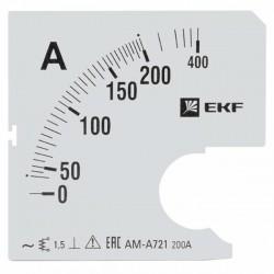 Шкала сменная для A721 200/5А-1,5 EKF PROxima | s-a721-200 | EKF
