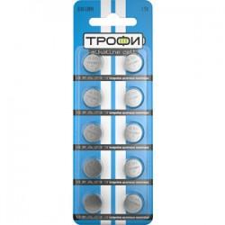 Батарейка щелочная (алкалиновая) G10 (389) LR1130, LR54 (200/1600/153600) (часовая) | C0035051 | ТРОФИ