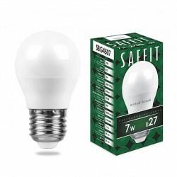 Лампа светодиодная SBG4507 7W 2700K 230V E27 G45 | 55036 | SAFFIT
