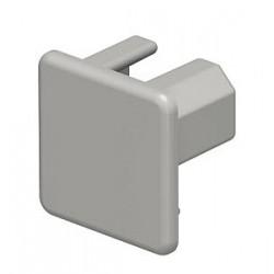 Торцевая заглушка кабельного канала WDK 20x20 мм (ПВХ,серый) (WDK HE20020GR) | 6158706 | OBO Bettermann