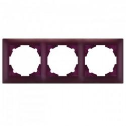Милан Рамка 3-местная фиолетовая EKF | EMM-R-3-PP | EKF