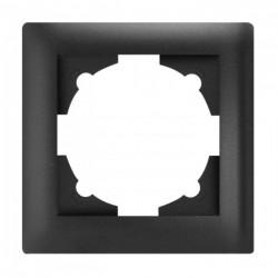 Милан Рамка 1-местная черная EKF | EMM-R-1-BK | EKF