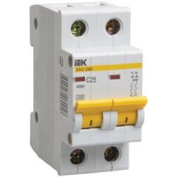 Выключатель автоматический двухполюсный ВА47-29М 8А B 4,5кА | MVA21-2-008-B | IEK