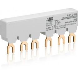 Шинная разводка 3-фазн. PS1-2-0-65 до 65А для 2-х автоматов типа MS116, MS132 без доп. контактов | 1SAM201906R1102 | ABB