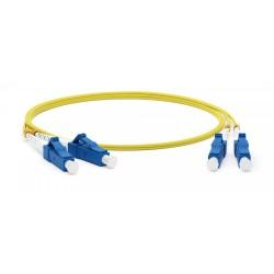 Патч-корд FC-D2-9-LC/UR-LC/UR-H-1M-LSZH-YL волоконно-оптический (шнур) SM 9/125 (OS2), LC/UPC-LC/UPC, 2.0 мм, duplex, LSZH, 1 м | 28074 | Hyperline