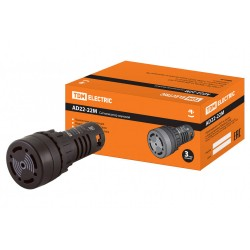 Сигнализатор звуковой AD22-22M/k31 d22 мм 220В AC черный   SQ0746-0002   TDM