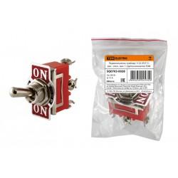Переключатель-тумблер 1122 (П2Т-1) вкл.- откл.- вкл. 1 группа контактов | SQ0703-0028 | TDM