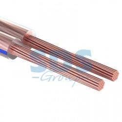 Кабель акустический 2х0,35 мм? прозрачный BLUELINE (м. бухта 20 м) | 01-6202-3-20 | REXANT