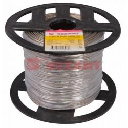 Трос стальной в ПВХ оплетке d=2,0 мм, прозрачный (бухта 200 м) | 09-5320 | REXANT