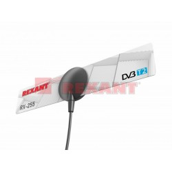 ТВ антенна комнатная для цифрового телевидения DVB-T2 на присоске (модль RX-255) | 34-0255 | REXANT