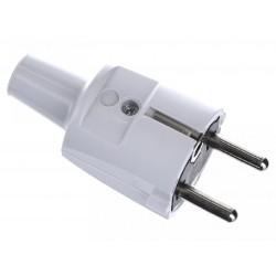 Вилка ПВХ с мультизаземлением 16A, 2P+E, 250V, (серый) | 1418060 | ABL Sursum