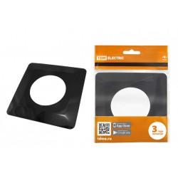 Рамка для выключателей или розеток одноместная защитная 130х130 мм, антрацит | SQ1822-0005 | TDM