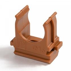 Крепёж-клипса для труб АБС-пластик бук д16 (100шт/2000шт уп/кор) | PR13.0045 | Промрукав