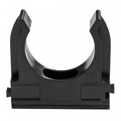 Крепеж-клипса для труб АБС-пластик черная д20 (100шт/1500шт уп/кор) | 02620ч | Промрукав
