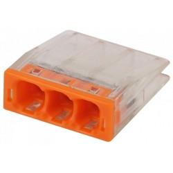 Аксессуары для клемм NO-224-35 ЭРА Клемма СМК компактная с пастой серии 243, 3 отверстия, 0,5-2,5 м   Б0043953   ЭРА