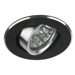 Светильник точечный KL58А 50Вт MR16 серебро/черный алюминиевый | Б0017261 | ЭРА