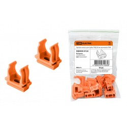 Крепеж-клипса для трубы ПНД 20 мм оранжевая | SQ0405-0122 | TDM
