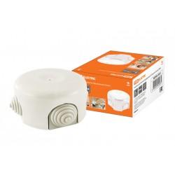 Коробка распаячная фарфоровая D7,8х4,5см белая   SQ2802-0011   TDM
