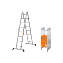 Лестница-трансформер алюминиевая ЛТА4х4, 4 секции по 4 ступени, h=433/209/117 см, 11,7 кг | SQ1028-0304 | TDM
