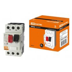 Пускатель ПРК32-1.6 In=1.6A Ir=1-1.6A Ue 660В | SQ0212-0006 | TDM