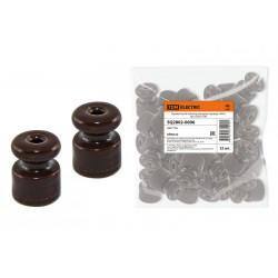 Керамический изолятор для ретро провода «ЭКО» бук (25шт) | SQ2802-0006 | TDM